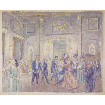 Watercolour - Ballroom at the Shire Hall, Chelmsford; Recording Britain Collection
