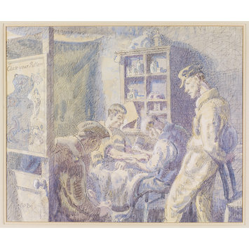 Watercolour - Tattooist's Parlour, Colchester; Recording Britain Collection