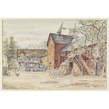 Watercolour - Blackhall Farm, King's Pyon; Recording Britain