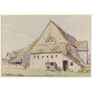 The Old Church (now a barn), Leonard Stanley; Recording Britain (Watercolour)
