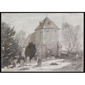 Drawing - Pamber Priory; Recording Britain