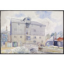 The Mill, Lemsford; Recording Britain (Watercolour)
