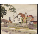 Kilns and Maltings on the Canal Bank, Bishop's Stortford; Recording Britain (Watercolour)