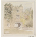 The Bishops' Palace, Buckden; Recording Britain (Watercolour)
