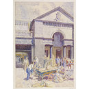 Covent Garden Market, London; Recording Britain (Watercolour)