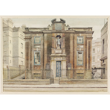 Watercolour - Bluecoat School, Caxton Street, Westminster; Recording Britain