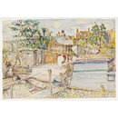 Dock of the Grand Union Canal Co., Brentford; Recording Britain (Watercolour)
