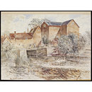 Charlecote Mill, Hampton Lucy, Warwickshire; Recording Britain (Watercolour)