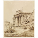Curzon Street Railway Station, Birmingham, Warwickshire; Recording Britain (Drawing)