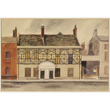 Watercolour - House on the Square, King's Lynn; Recording Britain
