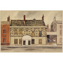 House on the Square, King's Lynn; Recording Britain (Watercolour)