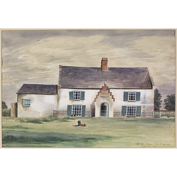 Watercolour - Castle Farm, Terrington St John, near King's Lynn; Recording Britain
