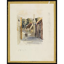 Eleanor's Cross, Geddington; Recording Britain (Watercolour)