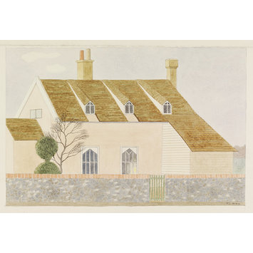 Watercolour - A Cottage at Easton; Recording Britain