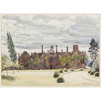 Watercolour - Seckford Hall, Bealings Magna (The Front); Recording Britain