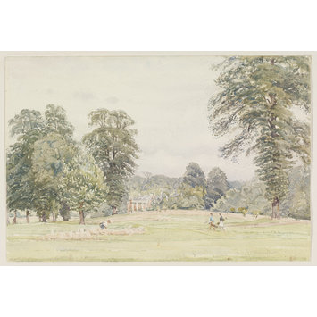 Watercolour - Richmond Golf Club, Sudbrook Park; Recording Britain
