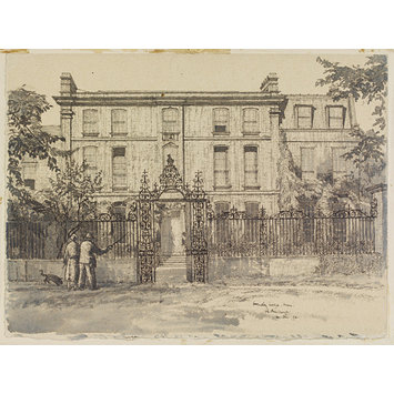 Drawing - Ormeley Lodge, Ham Common; Recording Britain