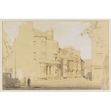 Drawing - Regency Brighton; Street off North Road; Recording Britain
