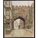 North Gate, Salisbury; Recording Britain (Watercolour)