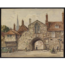 St. Ann's Gate, Salisbury; Recording Britain (Watercolour)