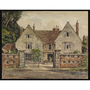 The Vicar's House, [ Dated 1673] Stratford Sub-Castle; Recording Britain (Watercolour)