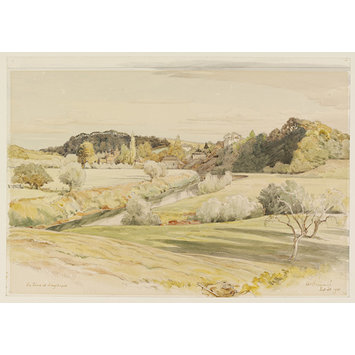 Watercolour - The Terne at Knightwick; Recording Britain