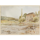 Knightwick Mill; Recording Britain (Watercolour)