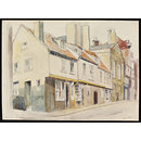 Tudor Houses, Church Street, Whitby; Recording Britain (Watercolour)