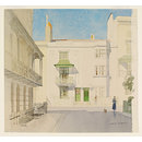 Regency Brighton: Houses in Russell Square, Sussex; Recording Britain (Watercolour)