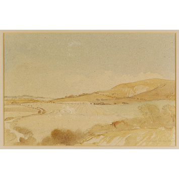 Watercolour - The Southdown, Underhill Road; Clayton to Westmeston; Recording Britain