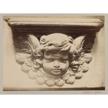 Photograph - Church of SS Gervais et Protais, Miserere Seat (Cherub's head), XVI Century, Paris, France; Old Paris