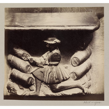 Photograph - Church of SS Gervais et Protais, Miserere Seat, XVI Century, Paris, France; Old Paris