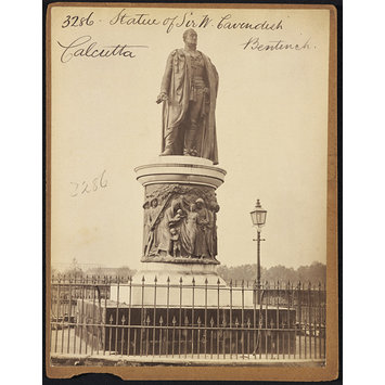 Photograph - Statue of Sir W. Cavendish Bentinck.  Calcutta