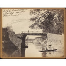 Cashmere.  Bridge on the Dhul Canal (Photograph)