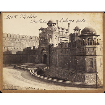 Photograph - Delhi.  The Palace.  Lahore Gate