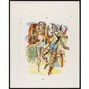 Two Harlequin Figures (Print)