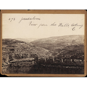 Photograph - Jerusalem.  View from the Walls, looking E.