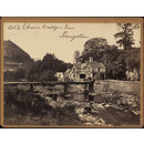 Chain Bridge &amp; Inn Llangollen (Photograph)