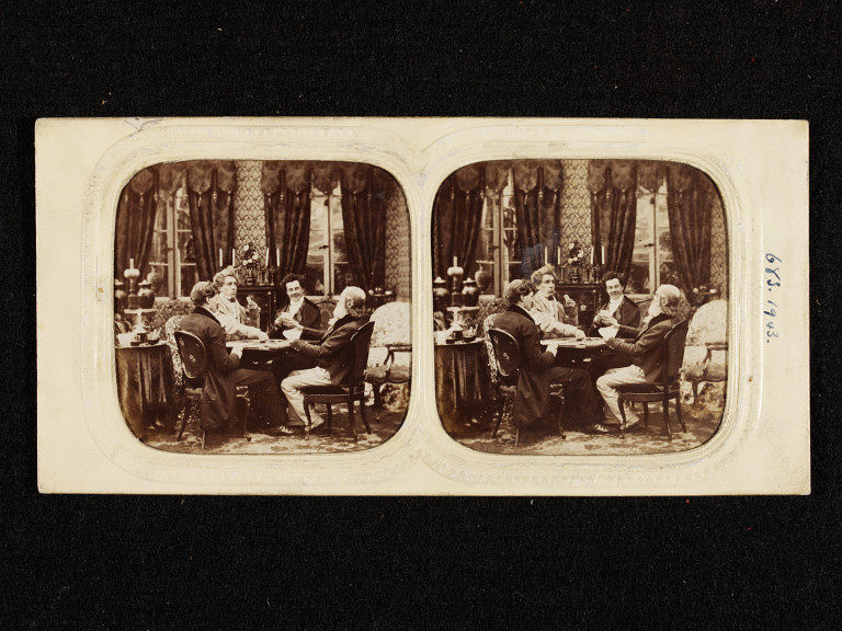 stereographic photo on an interior scene