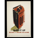 High heels mean accidents!; Oil, wipe it up. . . (Poster)