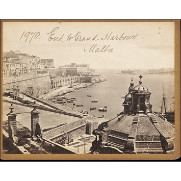 Photograph - Ent. to Grand Harbour.  Malta