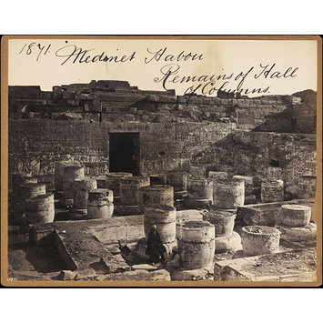 Photograph - Medinet Habou.  Remains of Hall of Columns