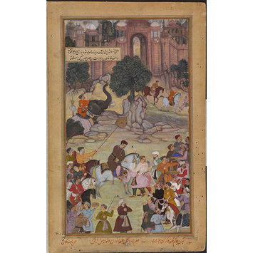 Painting - The Governor of Gagraun Delivers up the Keys of his Fort to Akbar