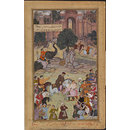 The Governor of Gagraun Delivers up the Keys of his Fort to Akbar (Painting)