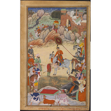 Painting - Adham Khan Pays Homage to Akbar at Sarangpur