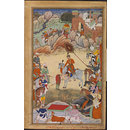 Adham Khan Pays Homage to Akbar at Sarangpur (Painting)