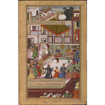 Painting - Dancers from Malwa Perform before Akbar