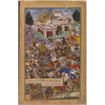 Painting - The Capture of Fort Mertha in Rajasthan