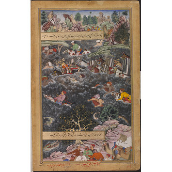Painting - Akbar's General, Pir Muhammad, Drowns While Crossing the Narbada