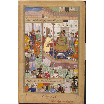 Painting - Akbar Receives the Iranian Ambassador Sayyid Beg in 1562